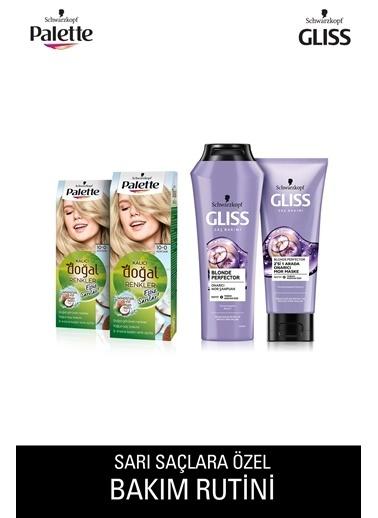 Gliss Gliss Blonde Perfector Şampuan 250 Ml+Palette 2X 100 Açık Saç Boyası Renksiz
